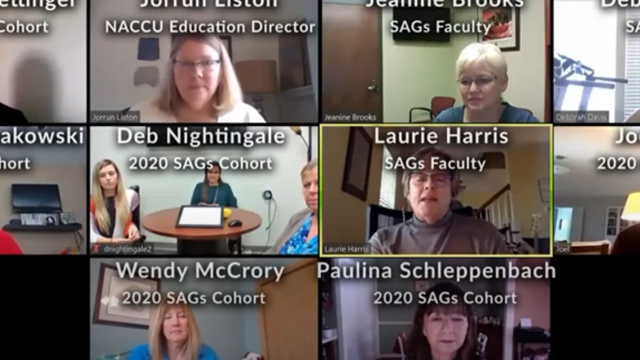 NACCU recognizes our 2020 SAGs (Standards and Self-Assessment Guidelines) Cohort